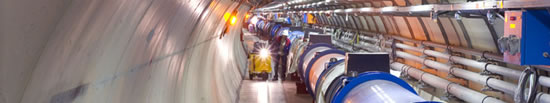 LHC Tunnel, photo from CERN
